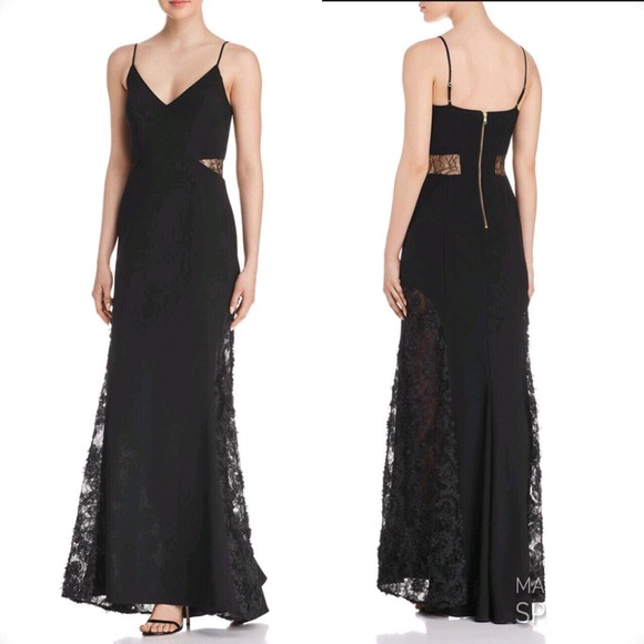 68157efdfa38 Betsy & Adam Dresses | Betsy Adam Laceinset Soutache Gown | Poshmark